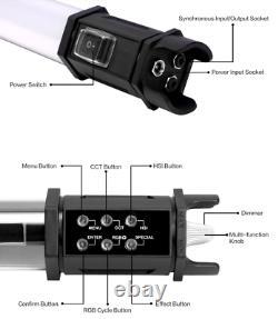 NANLITE Pavotube 15C LED Video Light Tube 77cm 2700K-6500K RGBW Handheld Stick