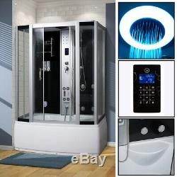 NEW 2019 STEAM SHOWER CUBICLE ENCLOSURE BATH CABIN-1500mm x 850mm-Bluetooth-C06