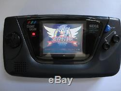 NEW GLASS SCREEN Sega Game Gear Launch Edition Black Handheld System
