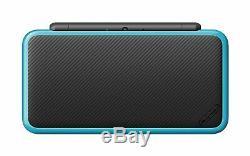 NEW Nintendo 2DS XL Black/Turquoise Handheld Gaming System Mario Kart 7 Bundle