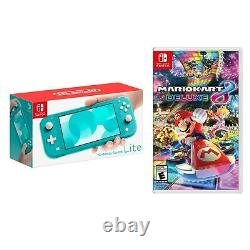 NEW Nintendo Switch Lite 32GB Handheld Game Console+Mario Kart8 Deluxe-Turquoise