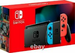 NEW Nintendo Switch with Neon Blue and Neon Red JoyCon Handheld Gaming Console