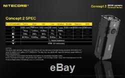 NITECORE Concept 2 Flashlight / Searchlight -6500Lm -Built-in 12400mAh Battery