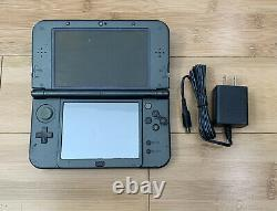 New Nintendo 3DS XL Black Handheld System Bundle with Charger READ DESCRIPTION