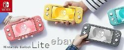 New Nintendo Switch Lite Handheld Gaming Console UK Seller Grey