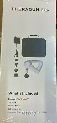 New Sealed Theragun ELITE White G4 Percussion Massage Gun Wand Portable Handheld