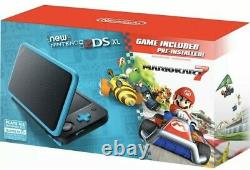 Nintendo 2DS XL Handheld Console with Mario Kart 7 Pre-installed Black/Turquoise
