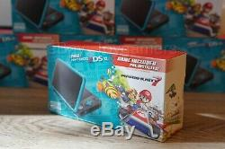 Nintendo 2ds XL Black Turquoise Handheld Console With Mario Kart 7 Brand New