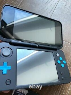 Nintendo New 2ds XL Game System Black/turquoise Handheld Console Bundle