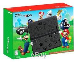 Nintendo New 3DS Super Mario World Black Edition Handheld Console Faceplate