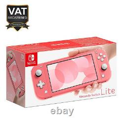 Nintendo Switch Lite Handheld Console Coral Brand New