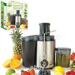 Nutri-Q Juicer Machine Fruit Veg Citrus Centrifugal Electric Extractor 500W Jug
