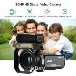 ORDRO AE8 4K HD 3.0 inch Touch Screen 16X WIFI Digital Video Camera Night Vision