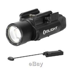 Olight PL PRO Valkyrie Rechargeable Flashlight & Olight Pressure Switch (Black)