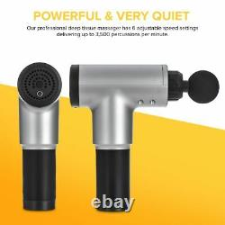 Percussion Massage Gun Massager Muscle Vibration Relaxing Therapy Deep Tissue UK