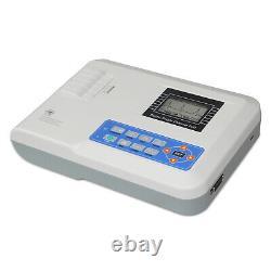 Portable ECG Monitor EKG Machine 1 Channel 12 Leads Electrocardiograph Printer