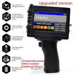 Portable Fast dry handheld jet printer Touch Screen Date Words QR Barcode Logo