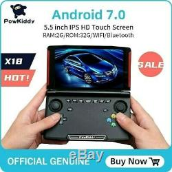 Powkiddy X18 Android Retro Handheld Game 17 Emulator HD GBA GBC PS1 SNES DC N64