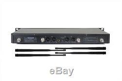 Pro Wireless Microphone System UHF 100 Channel 4 Cordless Handheld Mic Studio