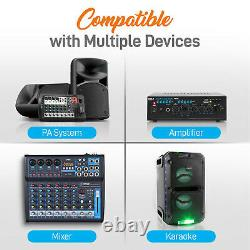 Pyle Wireless Microphone System Set with Bluetooth Receiver Base & 4 Handheld Mics