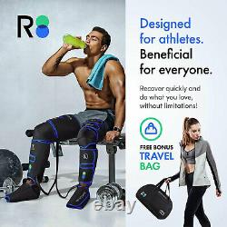 REATHLETE Leg Foot Athlete Compression Heating Pad Massager Boots with Controller
