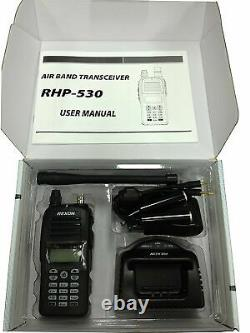Rexon Air Band Handheld Transceiver Comm with Bluetooth (US ONLY) RHP-530 COM BT
