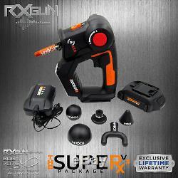 RxGUN SUPERx V3 Percussive Massager Vibrating Therapy Device Jigsaw Massage Gun