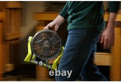 Ryobi Portable Fan Corded Cordless Hybrid 18-Volt Indoor Outdoor (Tool Only) NEW