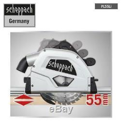 Scheppach Battery Plunge Saw PL55Li Black 3in1 Handheld Circular Panel