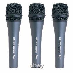 Sennheiser E835 Cardioid Handheld Dynamic Microphone Kit Includes 3 E835 Kits
