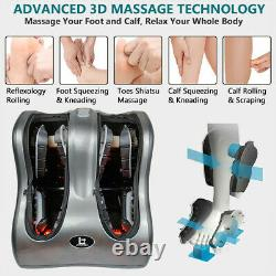 Shiatsu Kneading Rolling Foot, Leg & Calf Massager with Heating and Vibration