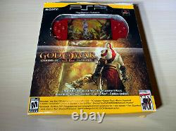 Sony PSP 2000 God of War Red Handheld Console Brand New