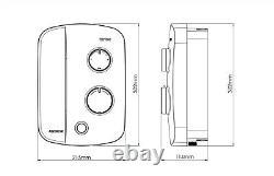 Triton AS2000SR Silent Running Thermostatic Power Shower White & Chrome Novel SR