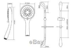 Triton AS2000XT Satin Chrome Thermostatic Power Shower + Riser Aquasensation