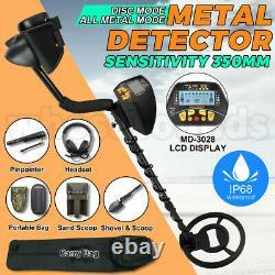 UK 350mm Deep Sensitive Metal Detector Set Searching Gold Digger Treasure Hunter