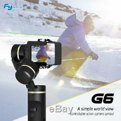 UK Feiyu G6 Splashproof Handheld Gimbal Action Camera for Gopro Hero 7 6 5 YI 4K