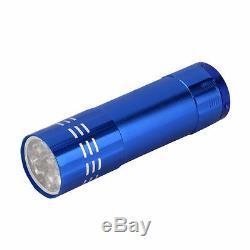 ULTRA BRIGHT 9 LED POWERFUL SMALL CAMPING TORCH FLASH LIGHT LAMP LIGHTS Random
