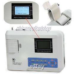 US Seller Digital single channel 12-lead ECG/EKG machine Electrocardiograph FDA