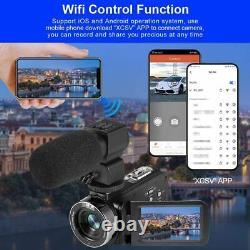 Video Camera 4K Camcorder Ultra HD Vlogging Camera for YouTube, 48MP 16X Digital