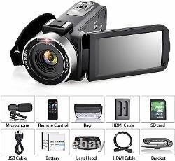 Video Camera 4K Camcorder Vlog Camera for YouTube, HD Digital Camera with 16X Di