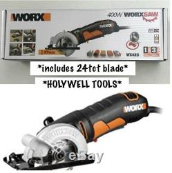 WORX WX423 85 mm 400 W Classic Compact Multi Purpose Circular Saw Hand Held