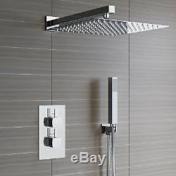 Waterfall Shower Head & Concealed Thermostatic Valve Kit 2 Way With Handheld
