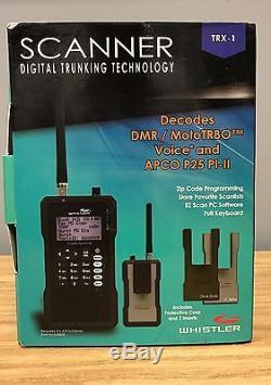 Whistler TRX1 Handheld Digital Trunking Scanner self programming NEW