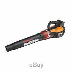 Worx WG591 56V 465 CFM 2 Speed Turbine Handheld Cordless Leaf Blower with Battery