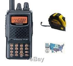 Yaesu FT-60R VHF/UHF, 5W Handheld Radio with FREE Radiowavz Antenna Tape