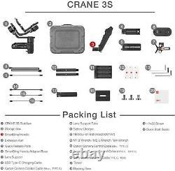 ZHIYUN Crane 3S Gimbal Stabilizer for DSLR Cameras Camcorder withSmartSling Handle