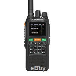 Zastone ZT889G GPS 10W Walkie Talkie Two Way Radio VHF/UHF Handheld For Hunting