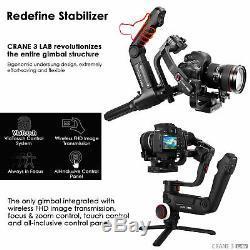 Zhiyun Crane 3 LAB Standard Kit 3-Axis Handheld Gimbal Stabilizer Fr DSLR Camera